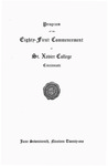 Program of the Eighty-First Commencement of St. Xavier College, Cincinnati