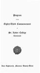 Program of the Eighty-Third Commencement of St. Xavier College, Cincinnati