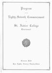 Program of the Eighty-Seventh Commencement of St. Xavier College, Cincinnati
