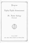Program of the Eighty-Eighth Commencement of St. Xavier College, Cincinnati
