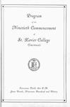 Program of the Ninetieth Commencement of St. Xavier College, Cincinnati