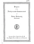Program of the Ninety-Second Commencement of Xavier University, Cincinnati