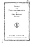 Program of the Ninety-Third Commencement of Xavier University, Cincinnati