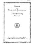 Program of the Ninety-fourth Commencement of Xavier University, Cincinnati