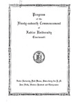 Program of the Ninety-seventh Commencement of Xavier University, Cincinnati