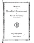 Program of the Ninety-Ninth Commencement of Xavier University, Cincinnati