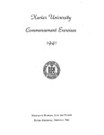 Xavier University Commencement Exercises, 1941