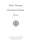 Xavier University Commencement Exercises, June 1944