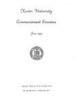 Xavier University Commencement Exercises, June 1945