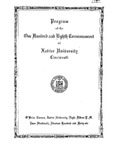 Program of the One Hundred and Eighth Commencement of Xavier University, Cincinnati