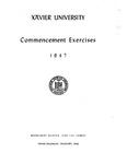 Xavier University Commencement Exercises, 1947