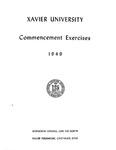 Xavier University Commencement Exercises, 1949