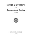 Xavier University 115th Commencement Exercises, 1953
