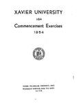 Xavier University 116th Commencement Exercises, 1954
