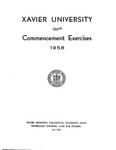 Xavier University 120th Commencement Exercises, 1958
