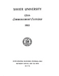 Xavier University 125th Commencement Exercises, 1963
