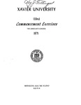 Xavier University 133rd Commencement Exercises, The Graduate School, 1971