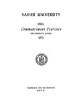 Xavier University 135th Commencement Exercises, The Graduate School, 1973