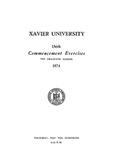 Xavier University 136th Commencement Exercises, The Graduate School, 1974