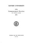 Xavier University 137th Commencement Exercises, The Graduate School, 1975