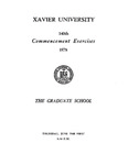 Xavier University 140th Commencement Exercises, The Graduate School, 1978