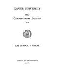 Xavier University 141st Commencement Exercises, The Graduate School, 1979