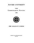 Xavier University 143rd Commencement Exercises, The Graduate School, 1981