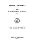 Xavier University 144th Commencement Exercises, The Graduate School, 1982