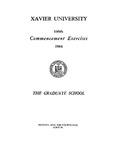 Xavier University 146th Commencement Exercises, The Graduate School, 1984