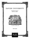 Xavier University Commencement Program, May 13, 2006 by Xavier University, Cincinnati, OH