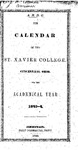 1843-44 Xavier University Course Catalog by Xavier University - Cincinnati