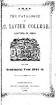 1845-46 Xavier University Course Catalog