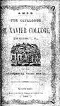 1849-50 Xavier University Course Catalog
