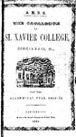 1850-51 Xavier University Course Catalog