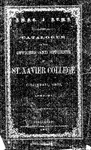 1860-61 Xavier University Course Catalog