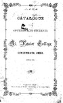 1864-65 Xavier University Course Catalog