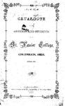 1864-65 Xavier University Course Catalog