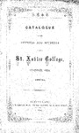 1865-66 Xavier University Course Catalog
