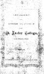 1867-68 Xavier University Course Catalog