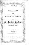 1868-69 Xavier University Course Catalog