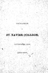 1876-77 Xavier University Course Catalog
