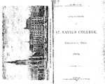 1881-82 Xavier University Course Catalog