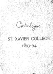 1893-94 Xavier University Course Catalog