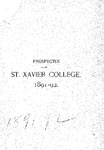 1891-92 Prospectus of St. Xavier College