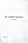 1911-12 Xavier University Course Catalog