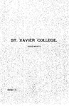 1913-14 Xavier University Course Catalog