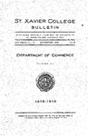 1919 September Xavier University Course Catalog Department of Commerce - Monthly Supplement