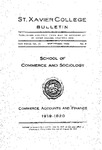 1920 September Xavier University Course Catalog School of Commerce and Sociology - Monthly