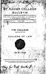 1919 July Xavier University Course Catalog College of Law - Monthly