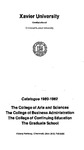1980-1982 Xavier University College of Arts and Sciences, College of Business Administration, College of Continuing Education, Graduate School Course Catalog